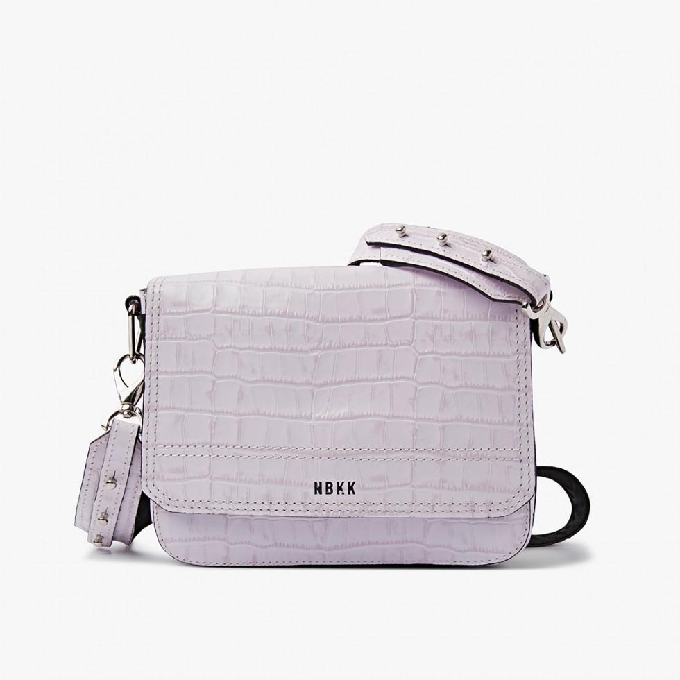 Nubikk April Lilac Croco Bag