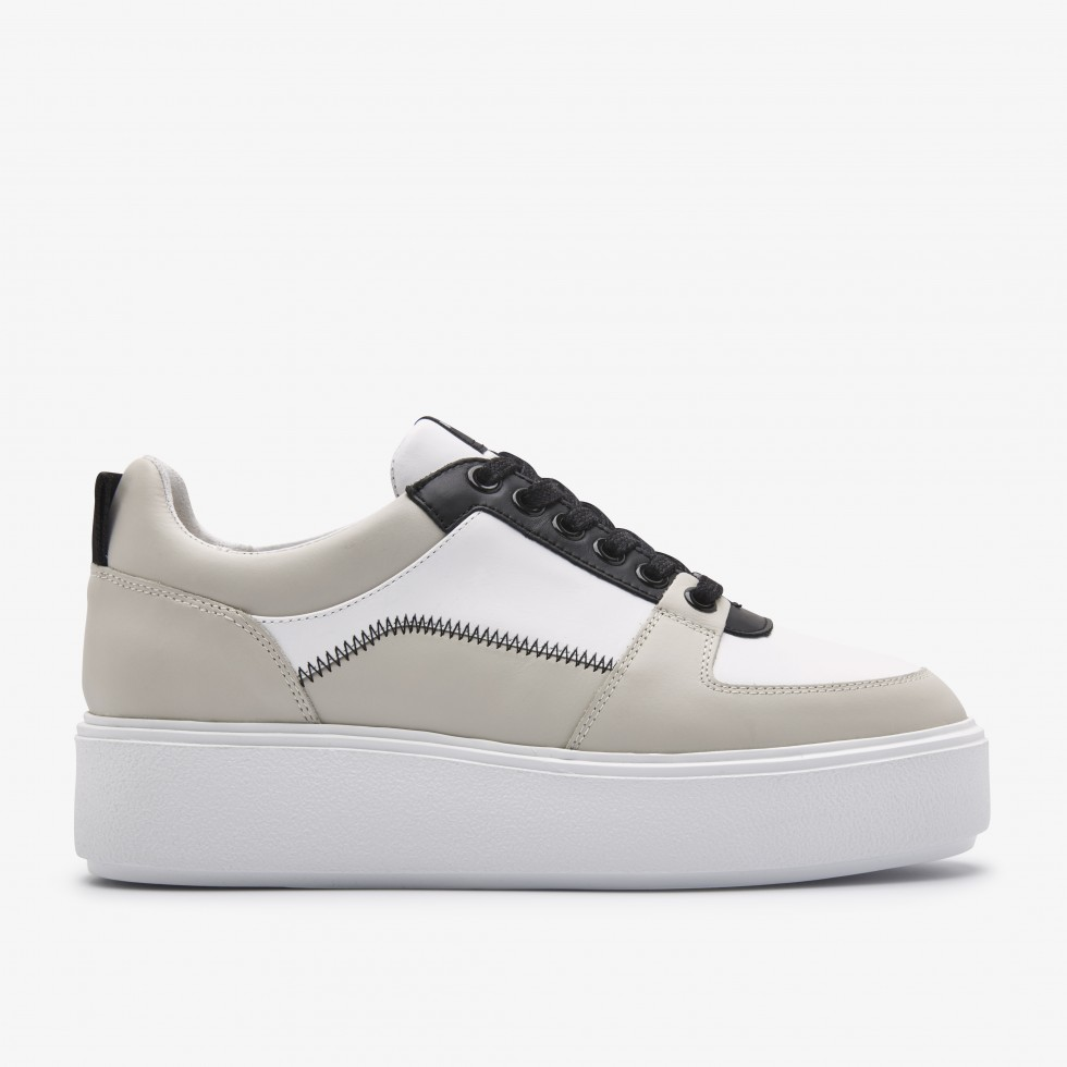 Nubikk Elise Blush Multi White Sneakers