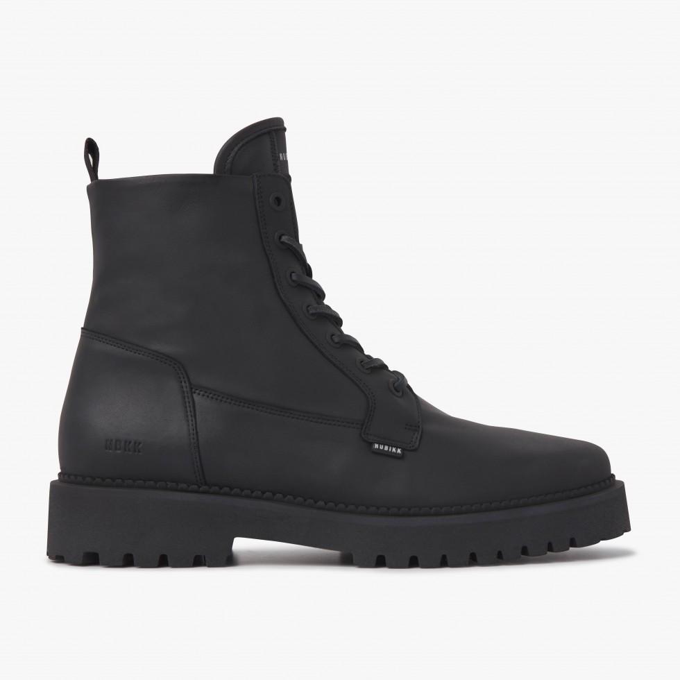 Nubikk Logan Day Black Leather Boots
