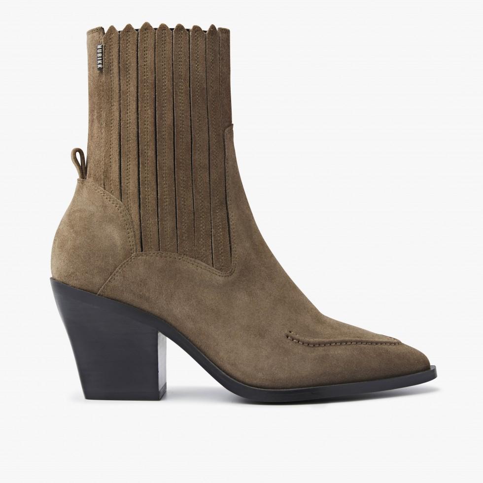 Nubikk Romee Moc Taupe Ankle Boots