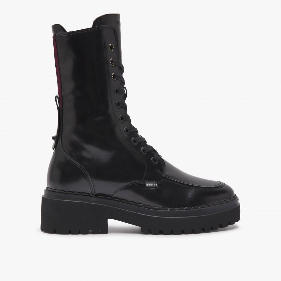 Nubikk Fae Aubine Black Biker Boots