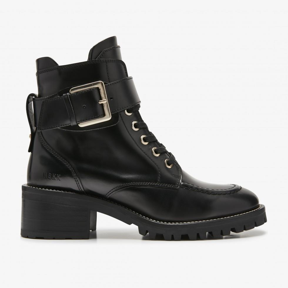 Nubikk Djuna Aubine Black Biker Boots