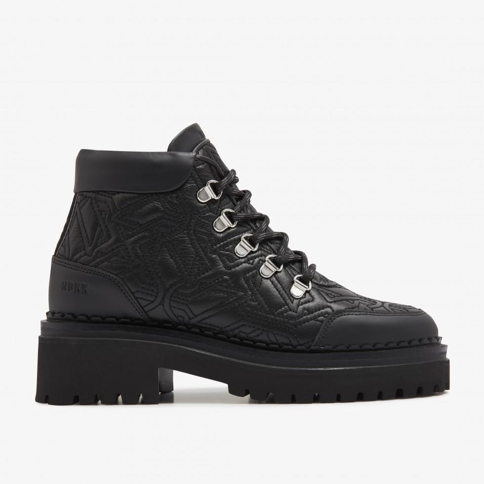 Nubikk Fae Stella Black Biker Boots