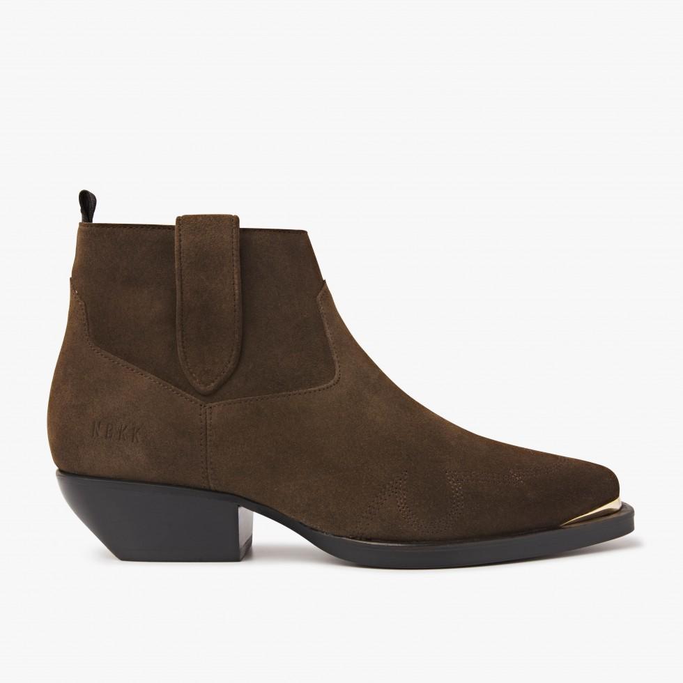 Nubikk Holly Santos Green Ankle Boots