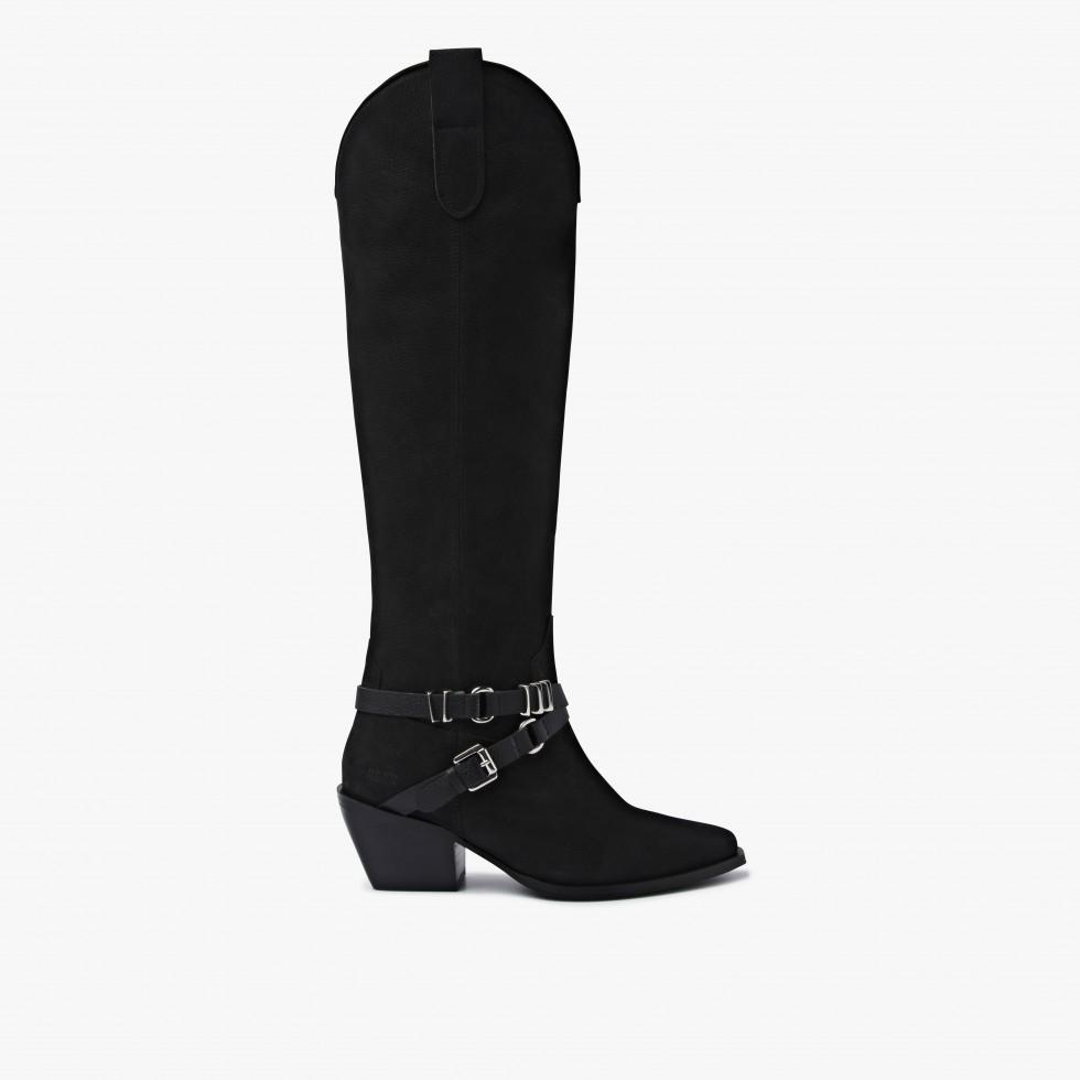Nubikk Alex Gaucho Black Boots