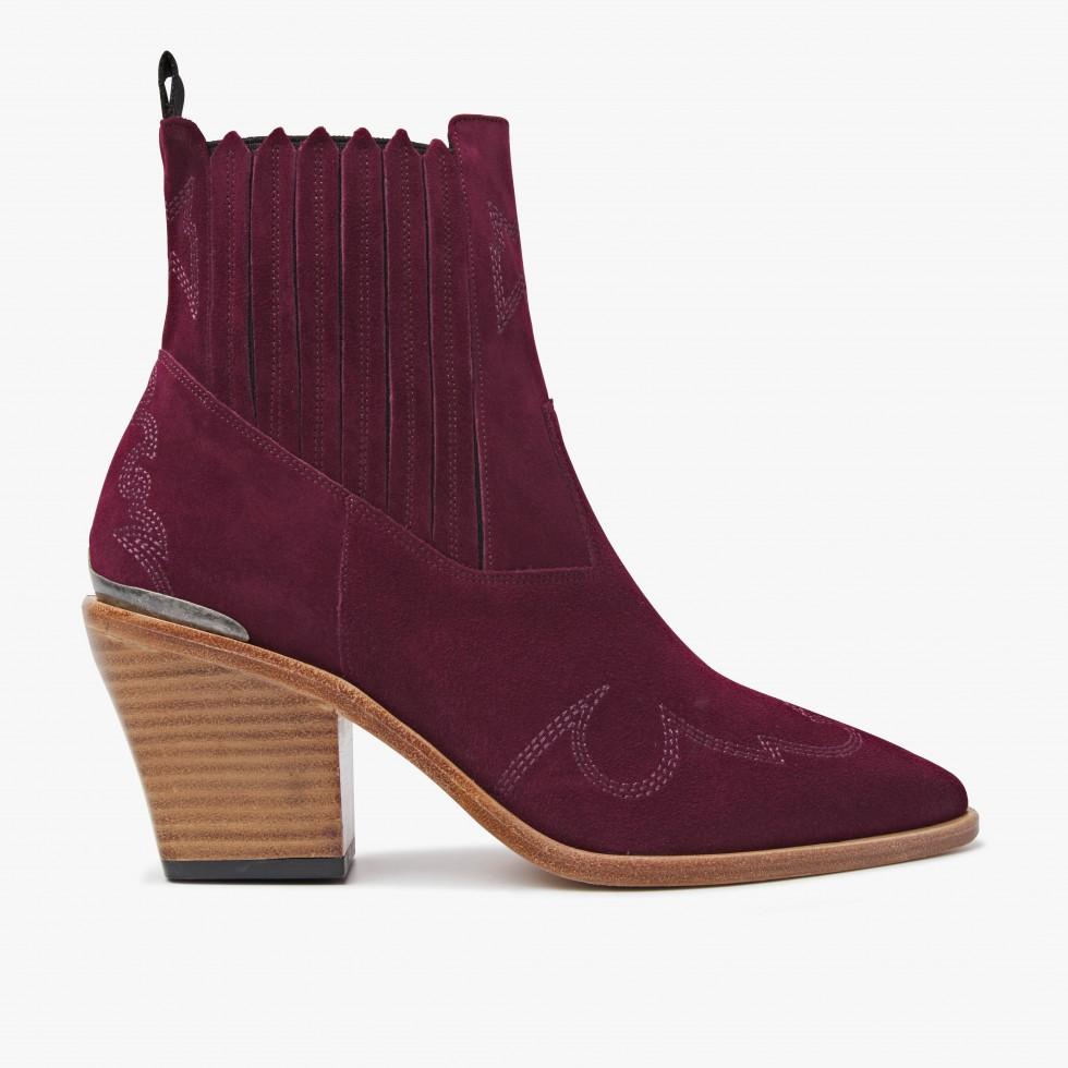 Nubikk Romee Cura Bordeaux Ankle Boots