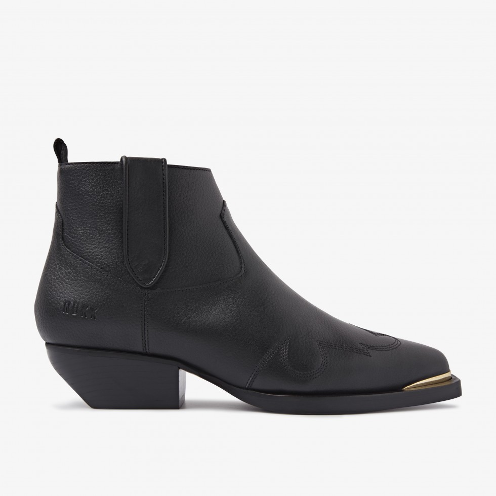 Nubikk Holly Santos Black Ankle Boots
