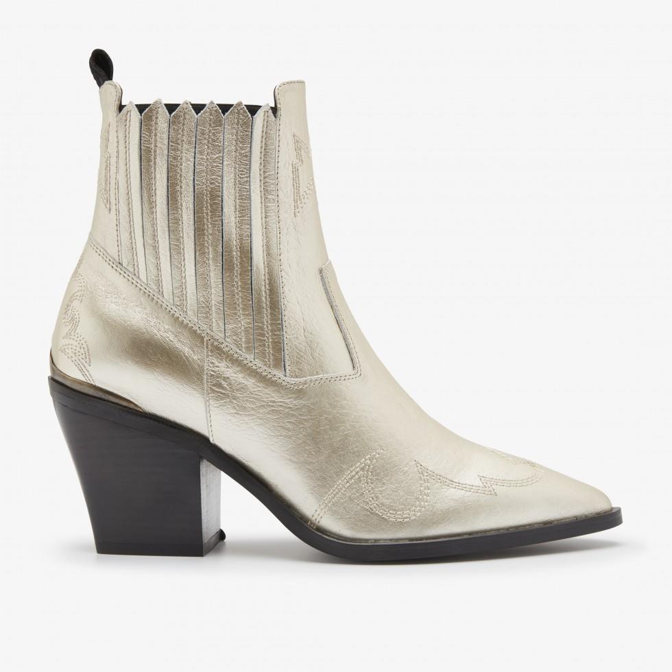 Nubikk Romee Cura Gold Ankle Boots