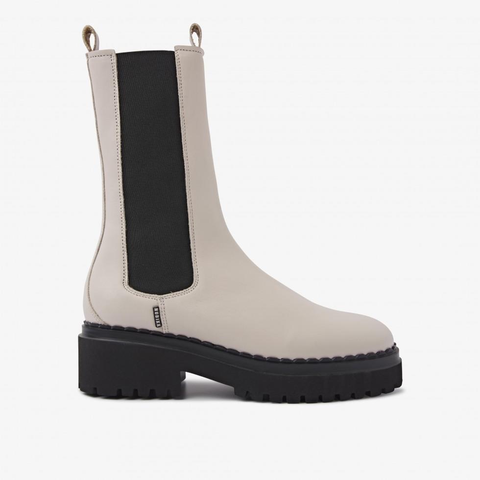 Nubikk Fae Adams Beige Chelsea Boots