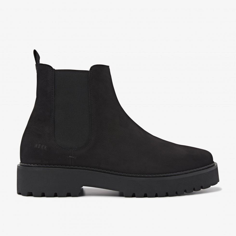 Nubikk Logan Rai Black Chelsea Boots