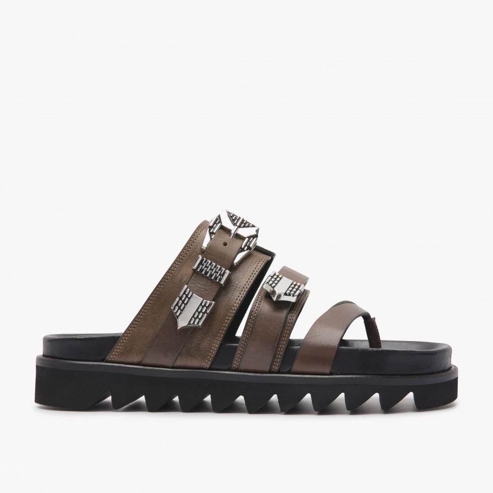 Nubikk Lauren Taro Khaki Sandals