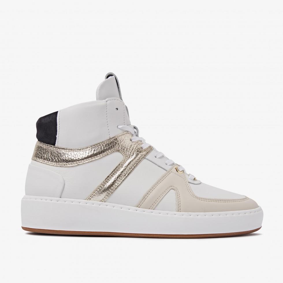 Nubikk Jiro Dunk Gold White Sneakers