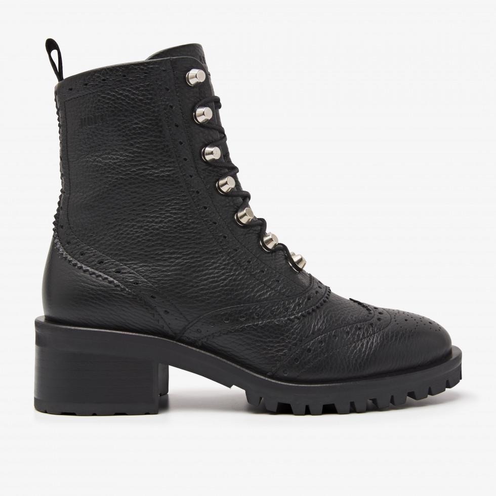 Nubikk Djuna Brogue Black Biker Boots