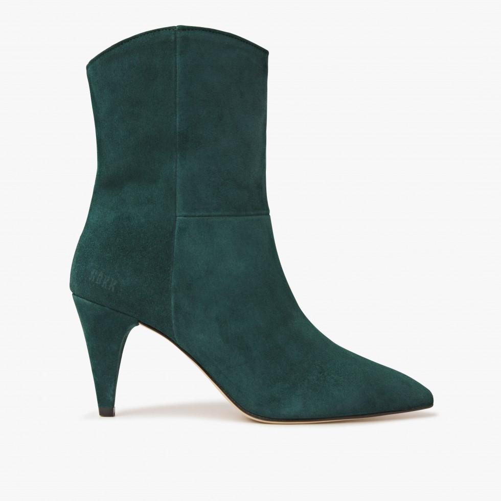 Nubikk Ace Boheme Green Ankle Boots