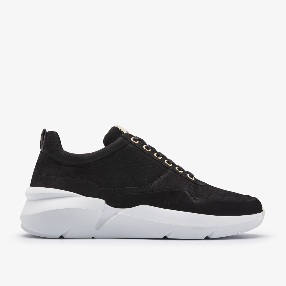 Nubikk Elven Tanuki Gold Black Sneakers