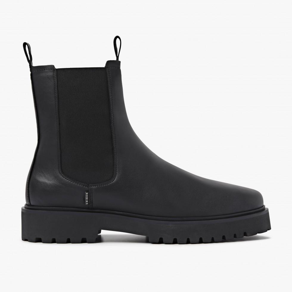 Nubikk Logan Adams Black Chelsea Boots