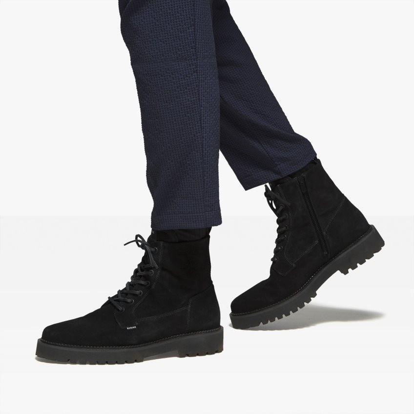 Nubikk Logan Day Black Suede Boots