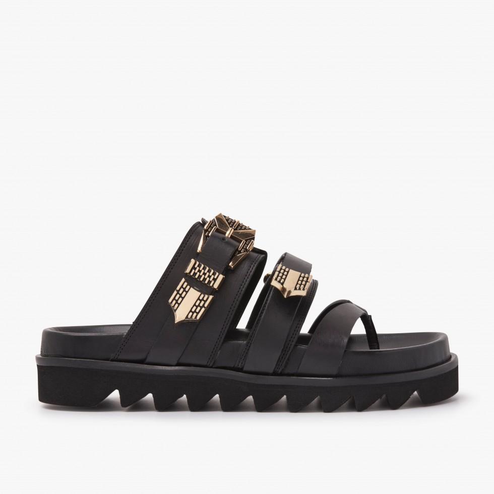 Nubikk Lauren Taro Black Sandals